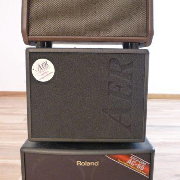 Test: AER Compact 60 III, Fishman Loudbox Mini, Roland AC 60